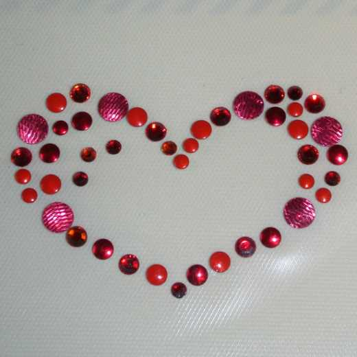 Nailheads Heart - red