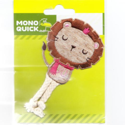 Applikation Löwe mit Baumelbeinen