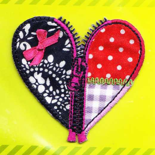Applique Zippered Heart