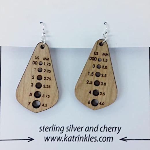 Katrinkles Needle Gauge Earrings