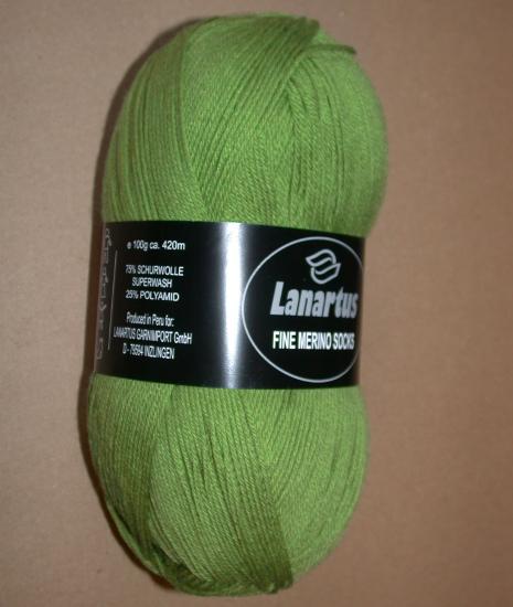 Lanartus Fine Merino Socks - 1330 hellgrün