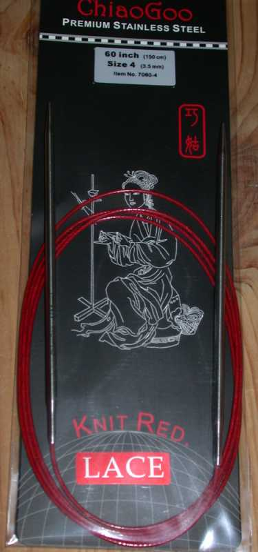 ChiaoGoo Rundstricknadel Red Lace 4,5 - 80 cm