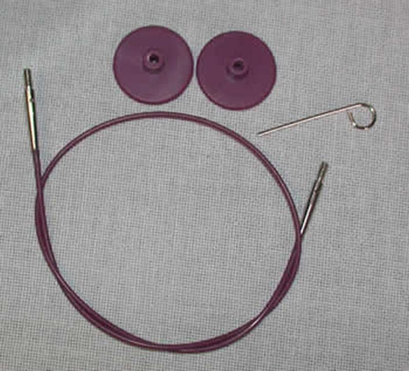 Knit Pro austauschbare Seile - LILA-80cm