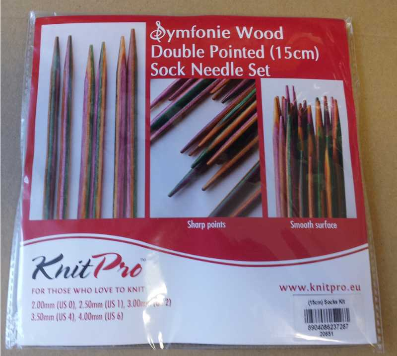 Knit Pro Nadelspiele Set Symfonieholz 15 cm