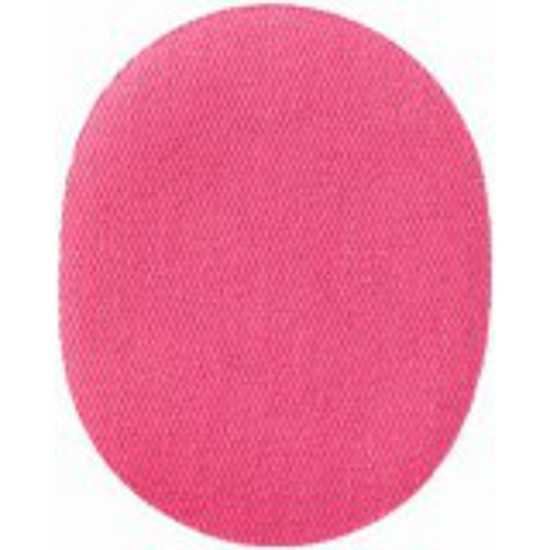 Applikation oval - Stoff uni pink