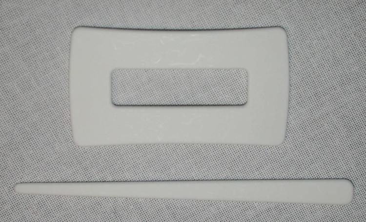 Tuchnadel rechteckig - weiß