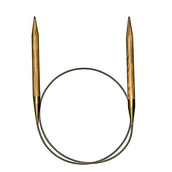 addi Rundstricknadel Olivenholz 7,0 - 80 cm