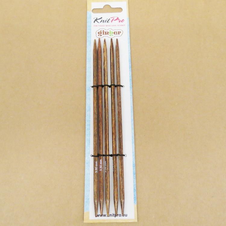 Knit Pro Nadelspiel Ginger 15 cm - 3,0