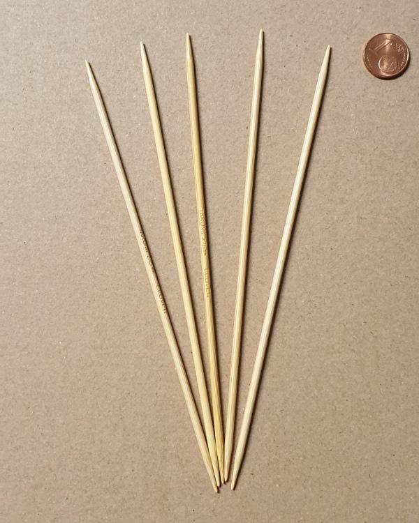 "Premium 5/"" bamboo Double point knitting needle US 0 1 2 3 4 5 6 7 8 9 10 10.5"