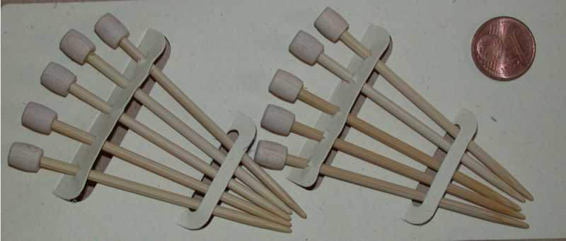 Clover Bambus Markier-Stecknadeln