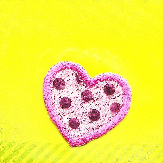 Motiv Herz rosa-glitzer