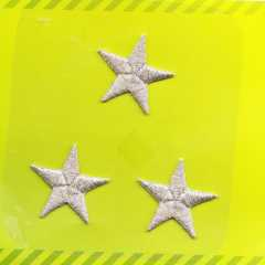 Applique Stars - silver