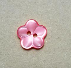 Knopf Blüte Kunststoff - 18 mm