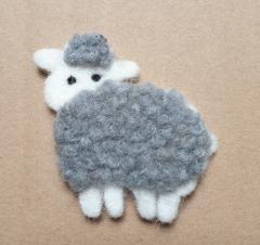 Applique Sheep gray