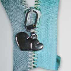Zipper Pull Hearts silver