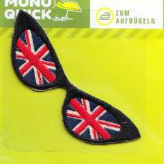 Applikation - Brille Union Jack