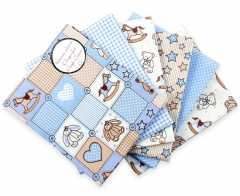 Craft Cotton Stoffpaket - Baby Teddy blau