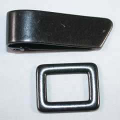 Metal Clasp black 25 mm