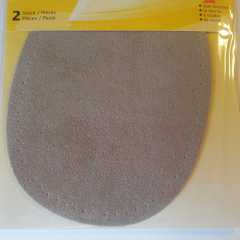 Applikation oval - Velourimitat beige