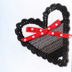 Applique Crocheted Heart