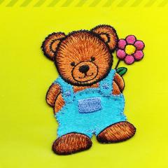 Applikation - Teddy mit Hose