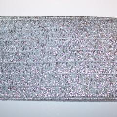 Elastisches Gurtband 60 mm - silber