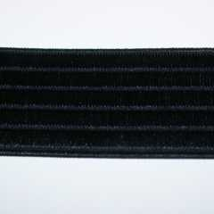 Elastic Webbing Strap 40 mm - black