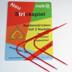 Neko Gebogenes Strickspiel - 3,5
