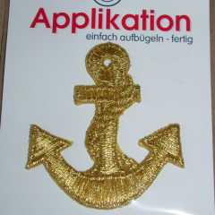 Applikation Anker - Lurex gold