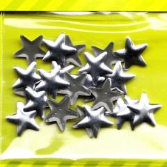 Bügelnieten Sterne - silber
