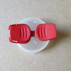 Cord End Stopper 20 mm red