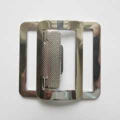 Belt Buckle with Pattern silver