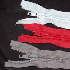 Strickreißverschluss teilbar 40 cm - rot