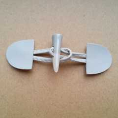 Duffle Coat Toggle white - 110 mm