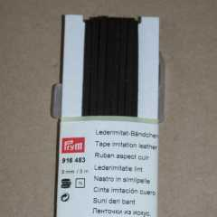 Faux Leather Tape 3 mm - dark brown