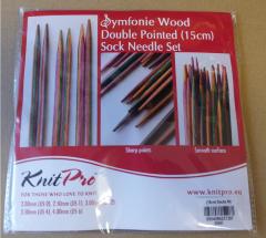 Knit Pro Nadelspiele Symfonieholz - Set 15cm