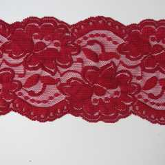 Lace Trim 90 mm - red