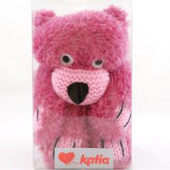Fil Katia Teddy Bear Schal - rosa