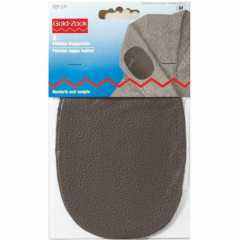 Leather Patches - oval gray
