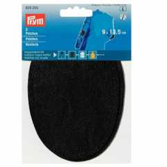 Faux Leather Patches - oval black