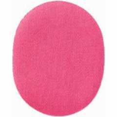 Applikation oval - Stoff uni pink
