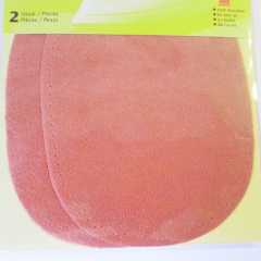 Faux Velour Patches - oval coral