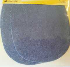 Faux Velour Patches - oval grayblue