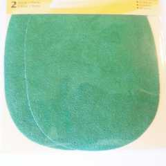 Faux Velour Patches - oval green