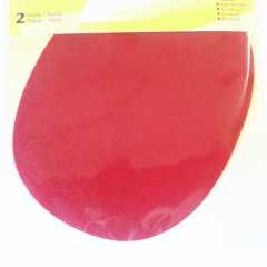 Applikation oval - Velourimitat rot