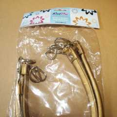 Knit Pro Bag Handles Faux Leather with D-Ring - gold