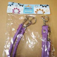 Knit Pro Bag Handles Faux Leather with D-Ring - purple