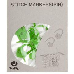 Tulip Maschen-Markierer verschließbar - Herz grün