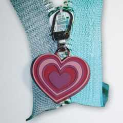 Zipper Pull Heart pink