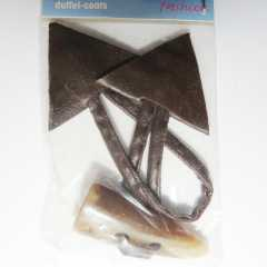 Duffle Coat Toggle brown - 130 mm